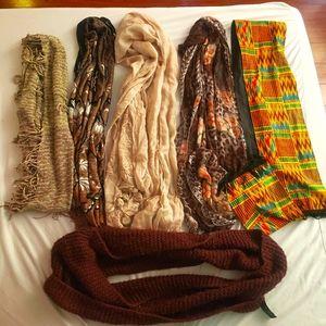 6 scarf bundle - sale